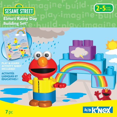 K'NEX Elmo's Rainy Day Building Set - Kid Knex Elmo