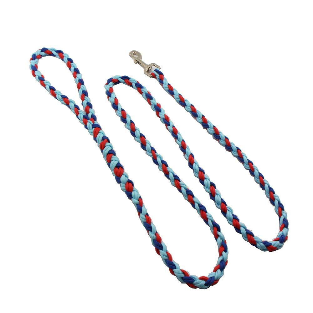 WINNER POP Multi-Color Dog Chain, Sturdy Braided Rope Dog Training Belt - 190 cm Large Soft Medium and Large Dog (Two Pieces), Multicolor