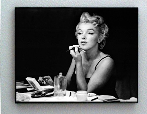 Marilyn Monroe Makeup Mirror Framed Vintage Photo 8.5 X 11 G