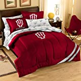 Officially Licensed NCAA Indiana Hoosiers Twin/Full Size Comforter with Sham Set