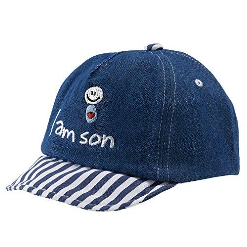 y Little Boy Washed Denim Cotton Baseball Cap Navy Blue (12-24 Months) (1/2 2in 1 Baseball)