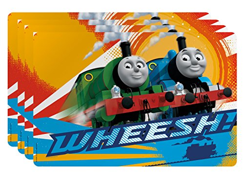Zak Designs Thomas and Friends Kid's Placemat, Set of 4, Thomas & Percy