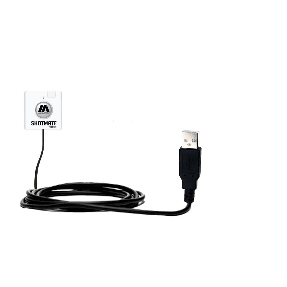 Uses Gomadic TipExchange Technology Classic Straight USB Cable suitable for the Matrix SHOTMATE Voice with Power Hot Sync and Charge Capabilities
