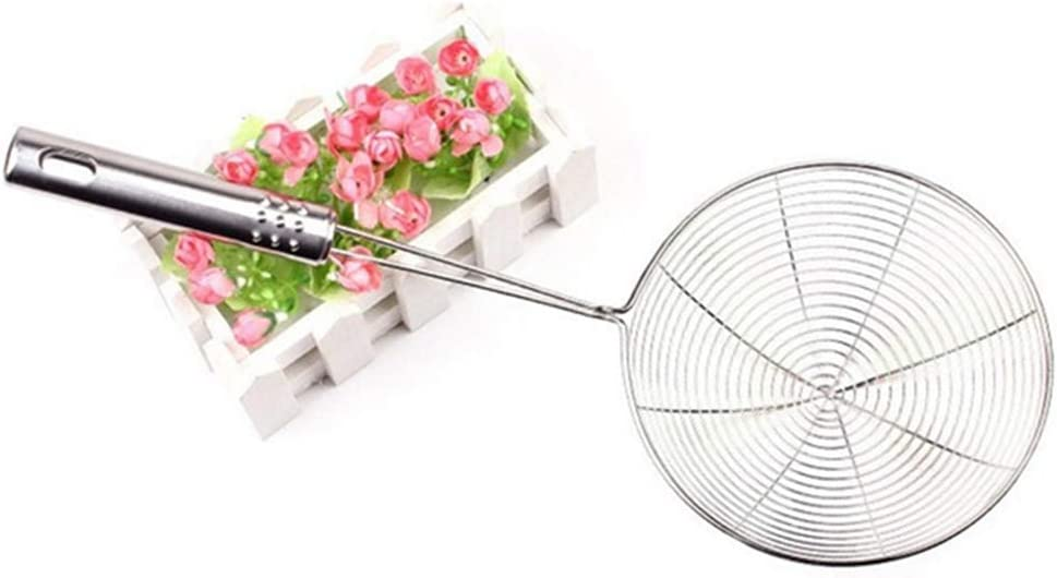 Pasta Spaghetti Fuyamp Net Colander Mesh Ladle for Kitchen Frying Food Noodle Stainless Steel Kitchen Skimmer Mesh Strainer with Handle