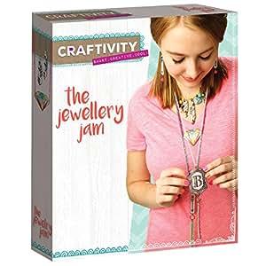 CRAFTIVITY The Jewelry Jam Craft Kit - Makes 8+ Pieces of Jewelry
