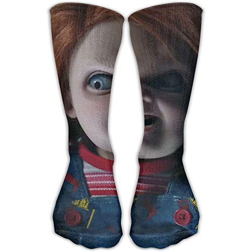 (miaomiao Unisex Cult Of Chucky Men's Sports Athletic Compression Football Winter Warm Funny Cute Novelty Cotton Calf Socks For)