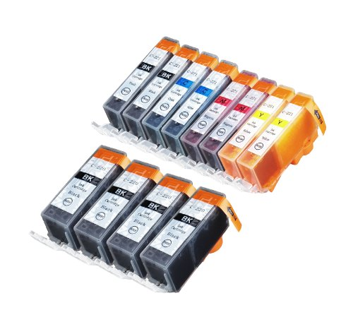 12 Pack Compatible Canon CLI 221 , CLI-221 , CLI221 , PGI 220 , PGI-220 , PGI220 4 Big Black, 2 Small Black, 2 Cyan, 2 Magenta, 2 Yellow for use with Canon PIXMA Ip3600, PIXMA Ip4600, PIXMA Ip4700, PIXMA MX860, PIXMA MX870. PIXMA Ip 3600, PIXMA Ip 4600, PIXMA Ip 4700, PIXMA MX 860, PIXMA MX 870.. Ink Cartridges for inkjet printers. Blake Printing Supply -