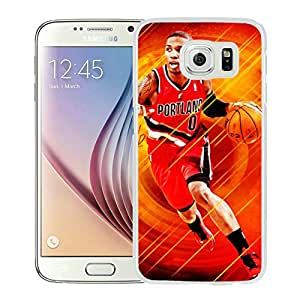 Fashionable Antiskid Cover Case For Samsung Galaxy S6 With Portland Trail Blazers damian lillard 6 White Phone Case