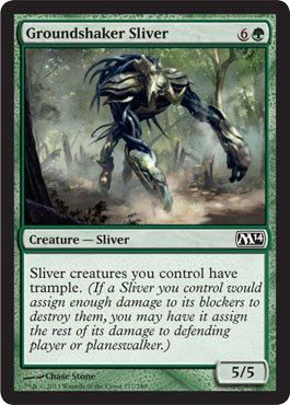 Magic: the Gathering - Groundshaker Sliver - Magic 2014 (Sliver Deck Magic Gathering)