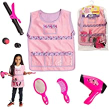 Dress 2 Play Hairdresser Pretend Costume; 6 Pc Dress up Set with Accessories