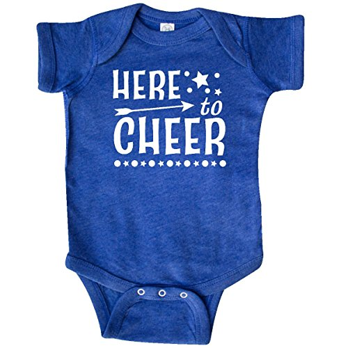 (inktastic - Here to Cheer- Infant Creeper 12 Months Retro Heather Royal 2c4cb)