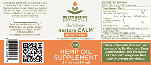 Restore-CALM-Hemp-Oil-Extract-600-mg-2-oz-Spice-Flavor-supports-functional-calming-for-stress-relief-relaxation-healthy-sleep-patterns-and-achy-muscles
