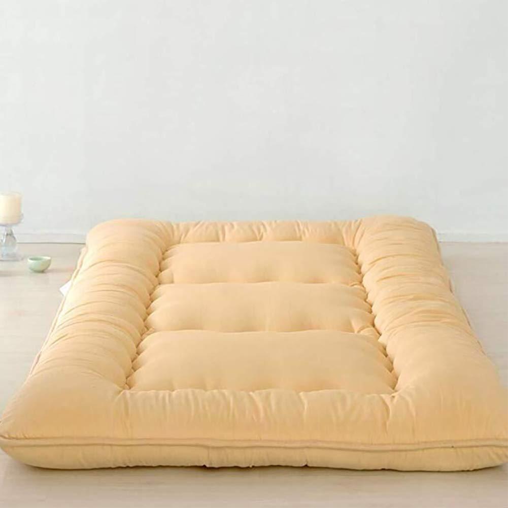 厚め ベッドパッド, 和風 布団 マットマット 柔らか 式 マットレスをロールアップします。 の 1 ダブル マットレス ホーム 学校- B07S19B6HK