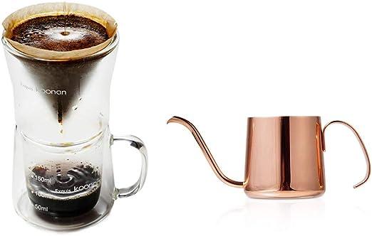 Kit Vour Over Dripper, Máquina de café para goteo frío,200ml Olla de cuello de cisne,