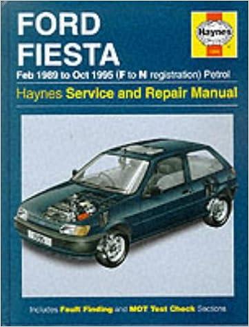 Oct 95 Car Workshop Repair Book 1595 Haynes Manual Ford Fiesta Petrol Feb 89