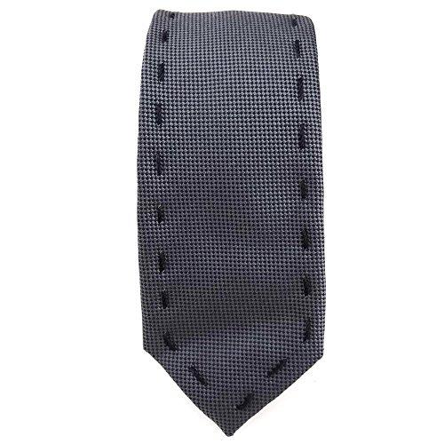 étroit cravate de femmes anthracite noir avec quilting nath - taille 144 x 4,5 cm