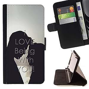 Momo Phone Case / Flip Funda de Cuero Case Cover - ME ENCANTA ESTAR CONTIGO - Sony Xperia M4 Aqua