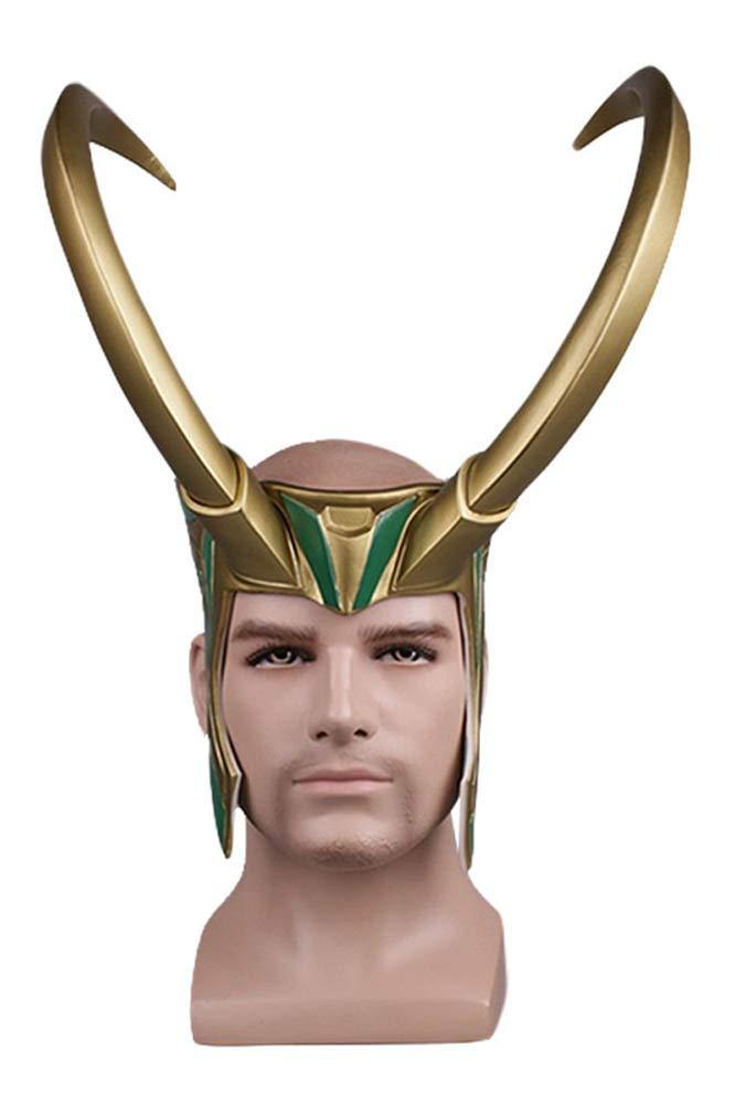 MingoTor Superheld Maske Cosplay PVC Maske Goldene Riesenhörner Helm Helm Helm 57ce80