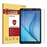 Samsung Galaxy Tab E 9.6 Screen Protector, OMOTON Tempered Glass, [9H Hardness] [Crystal Clear] [Scratch-Resistant] [Easy Installation] Perfect for Samsung Galaxy Tab E 9.6 inch Tablet(2015 Released)