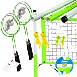 Franklin Sports Intermediate Badminton/Volleyball Set