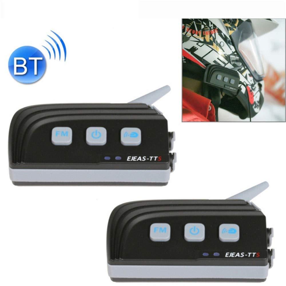 QUARKJK TTS V/élo Bluetooth Intercom Casque De Moto Casque 4 Pilotes Syst/ème De Communication Interphone Moto avec FM,Onepiece