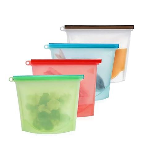 Noodei La Bolsa de Alimentos de Silicona Reutilizable se ...