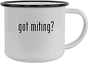 got miting? - 12oz Camping Mug Stainless Steel, Black