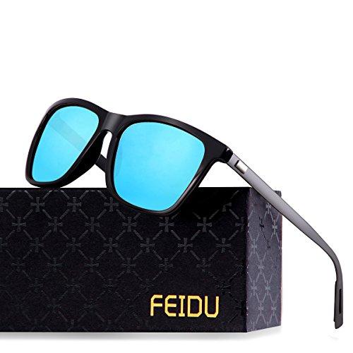 FEIDU Classic Polarized Wayfarer Sunglasses for Men Mirror Eyewear Unisex FD9003 (Blue, - Sunglasses Mirror For Men