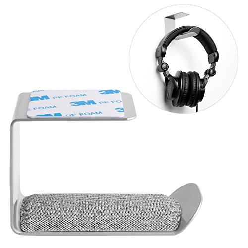Headphone Stand Hanger, YGIVO Metal Headphone Holder, Wall Mount Gaming Headset Holder Stand (Silver) For Sale