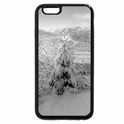 iPhone 6S Case, iPhone 6 Case (Black & White) - Winter view...