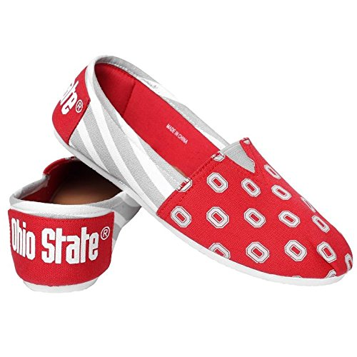 Voor Altijd Verzamelobjecten Dames Dames Damesschool Zomerzool Zonder Slip - Pick Teamstrepen - Ohio State Buckeyes