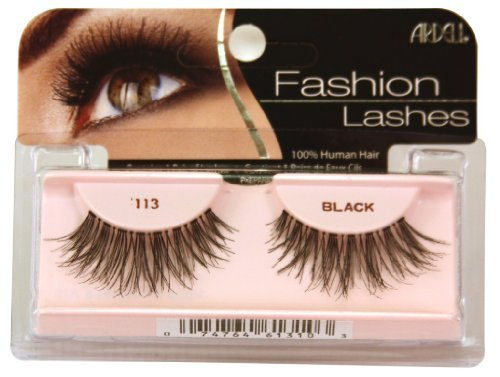 Fashion Ardell (Ardell Fashion Lashes False Eyelashes - #113 Black (Pack of 2) by Ardell)