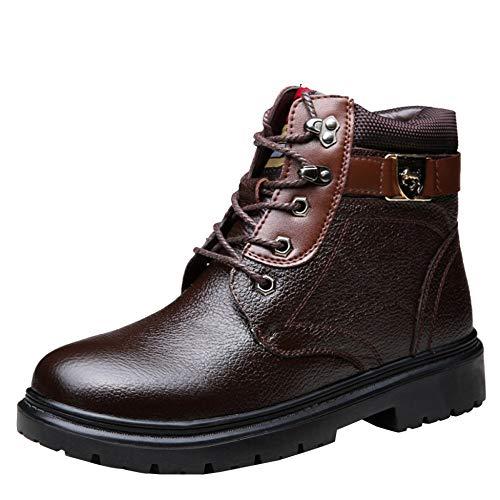 Alto Calzado Brown Botas Terciopelo Cálida Más Para Martin Nieve Algodón De Hombres PEP1qw