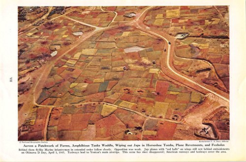 Print Ad 1945 Across a Patchwork of Farms Amphibious Tanks Waddle Wiping