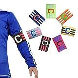 Zaptex Football Soccer Adjustable Elastic Captain Armband Pack of 7