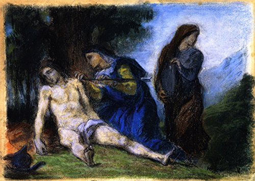 Cutler Miles Saint Sebastian Tended By The Holy Women by Eugene Delacroix Hand Painted Oil on Canvas Reproduction Wall Art. 30x24 by Cutler Miles