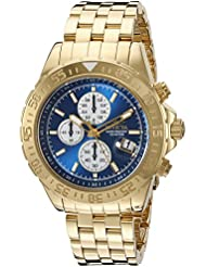 Invicta Mens 18855 Aviator Analog Display Japanese Quartz Gold Watch