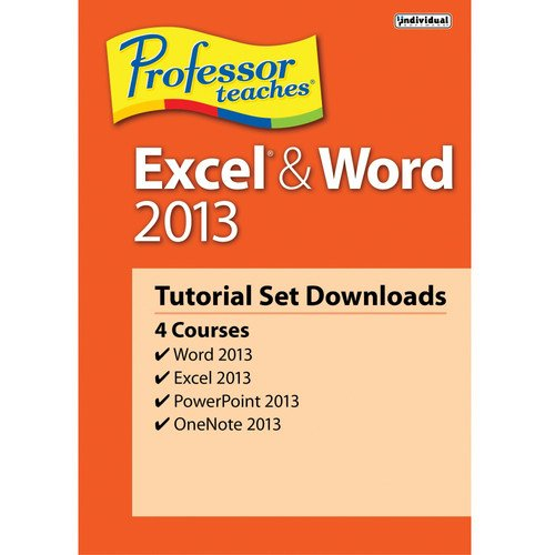 (Professor Teaches Excel & Word 2013 Tutorial Set (Download) and Free 6 Feet Netcna HDMI Cable - By NETCNA)