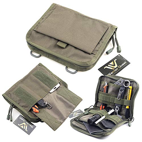 Warrior Quest Low Profile Organizer Pouch - Molle System Utility Pouches Tactical Medical Pouch Tools Accessories Pouch (Olive Drab Green) - Molle System Utility Pouch