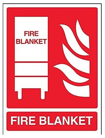 Señal de extintor de Incendios, Manta ignífuga, 20 x 25 cm ...