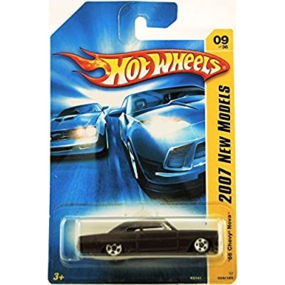 Hot Wheels '66 Chevy Nova Black (2007 New Models): Toys & Games