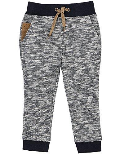 (Petit Lem Boys' Little Wolf Pack Knit Pants, Navy, 4)
