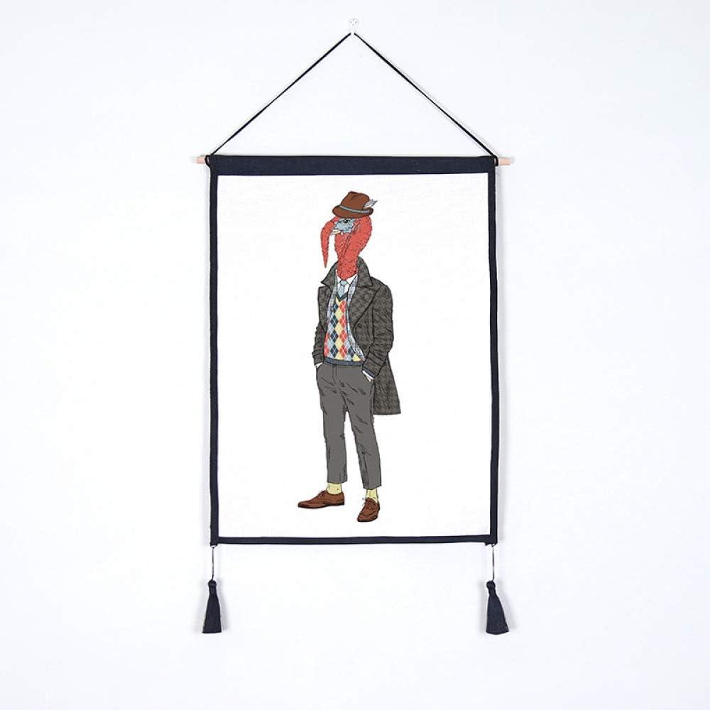 lsaiyy Tapiz Decorativo Fondo Colgante de Pared Moda Animal Fondo Tela Medidor Caja Cubierta Tela Tela de algodón 18 45x65cm