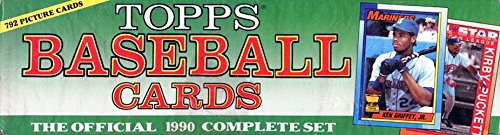 1990 Topps MLB Baseball Series Factory Sealed 792 Card Set in Harder to Find Christmas Cellophane Wrapped Picture Box with Frank Thomas and Sammy Sosa Rookie Cards Plus