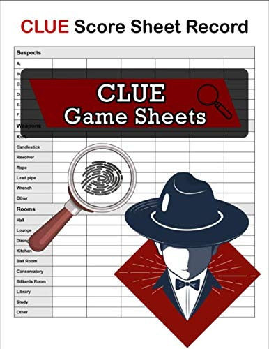 Clue Score Sheet Record, Clue Game Sheets: Clue Classic Score Sheet Book, Clue Scoring Game Record , Clue Score Card, 100 Sheets ()