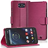 Motorola DROID Turbo Wallet Case - VENA [vSuit] Slim Fit Leather Case with Stand and Card Slots for Motorola DROID Turbo (Not Compatible with Metallized Glass Fiber Version) (Burgundy Red)