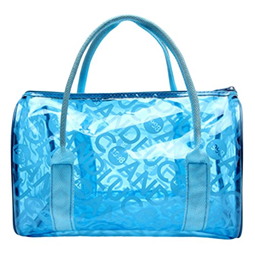 Panegy Fashion Waterproof Bag With Handles Handbag Transparent Beach For Swimming Sports Fitness - Red