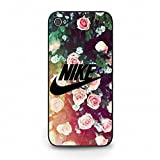 Beautiful Flower Background Nike Phone Case Cover for Iphone 5C Just Do It Luxury Pattern
