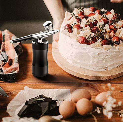 Gocheer Airbrush Kompressor Set,0,3 mm 7CC Gesichtsschönheit Spritzpistole Sauerstoffmessgerät Bodypainting Farben kit für ModellbauSchönheit Art Painting Tattoo Craft Cake Torten Make Up