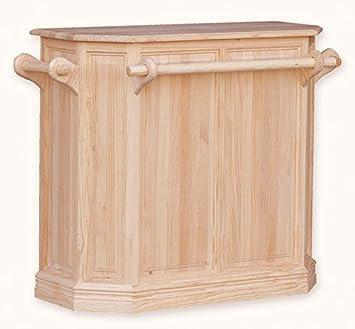 muebles natural u barra de bar para en madera de pino sin pintar ni